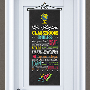 Personalized Classroom Rules Door Banner 911078315