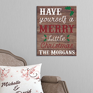 Personalized Have Yourself A Merry Little Christmas Canvas 91108966