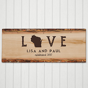 Personalized Love Established Canvas 91110029