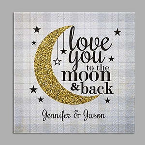 Personalized Love You To The Moon And Back Square Canvas 91110034X