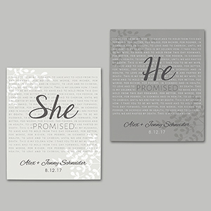 Personalized He and She Promised Canvas 91110086