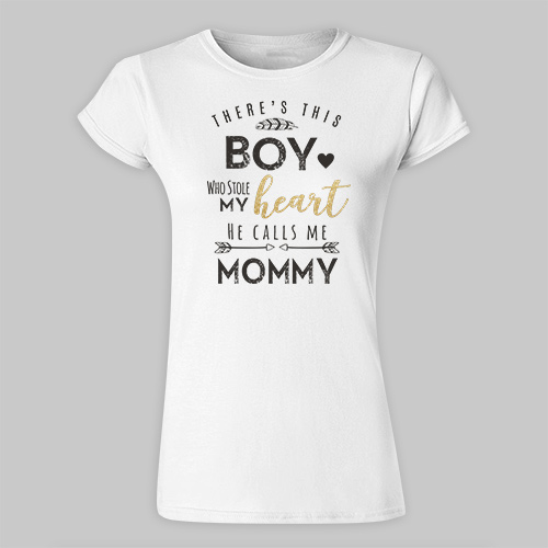 Personalized Stolen Heart T-Shirt | Personalized Mommy Shirts
