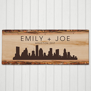 Personalized Skyline Square Canvas | Personalized Wedding Gift