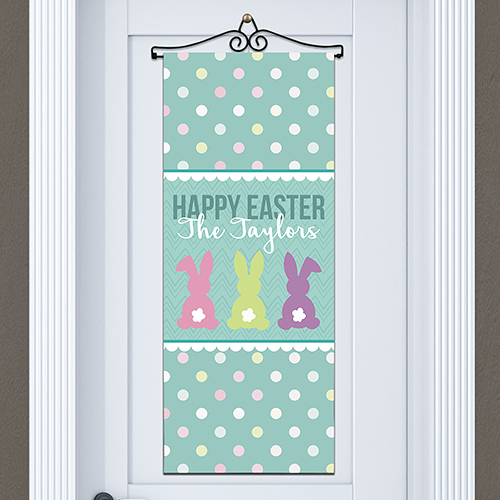 Bunny Tails Personalized Door Banner | Easter Door Decorations