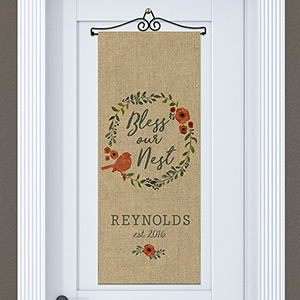 Personalized Bless Our Nest Door Banner | Personalized Housewarming Gifts