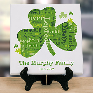 Shamrock Word-Art Canvas