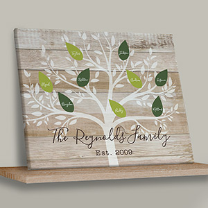 Personalized Family Tree Wall Canvas | Mother Day Plaques