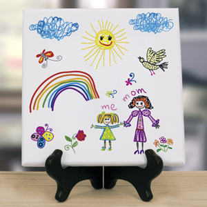 Personalized Kids Art 8 x 8 Table Canvas | Unique Mother's Day Gifts