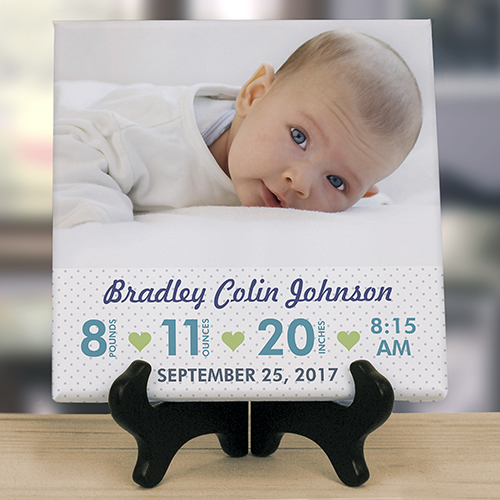 Personalized Baby Photo 8x8 Tabletop Canvas | Personalized Baby Gifts