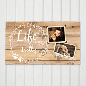 Personalized Life is Better Pet Canvas | Canvas Pet Portraits