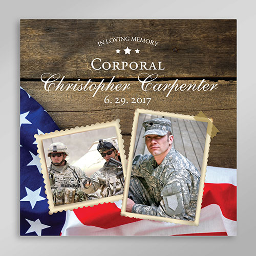 Personalized Soldier Tribute Canvas | Memorial Military Wall Art