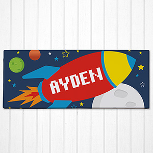 Personalized Spaceship Kids Canvas | Personalized Wall Decor For Kids