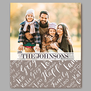 Personalized Family Photo Word-Art 14x11 Vertical Canvas | Photo Art