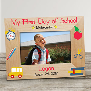 Personalized First Day of School Wooden Frame | First Day Of School Pictures Frame