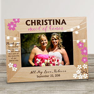 Personalized Bridesmaid Wooden Frame 9116301