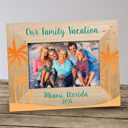 Personalized Palm Tree Vacation Frame | Personalized Vacation Frame