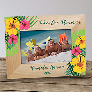 Personalized Family Vacation Frame | Personalized Picture Frame
