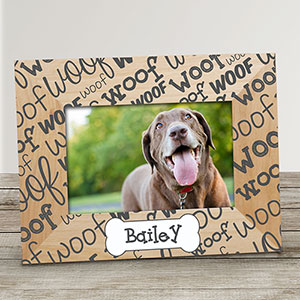 Personalized Woof Woof Pet Frame | Personalized Pet Picture Frames