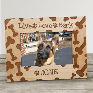 Personalized Live Love Bark Frame | Personalized Pet Frames