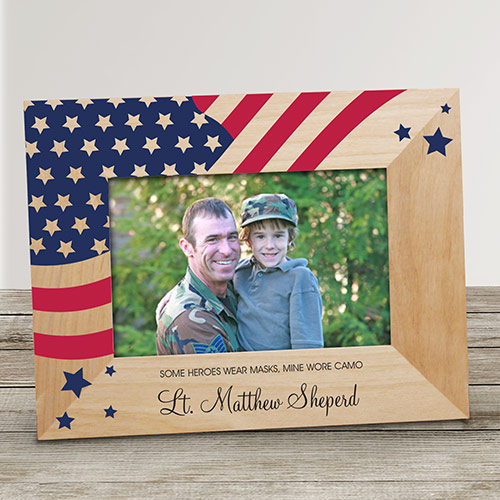 Personalized American Flag Memorial Frame | Personalized Memorial Picture Frames
