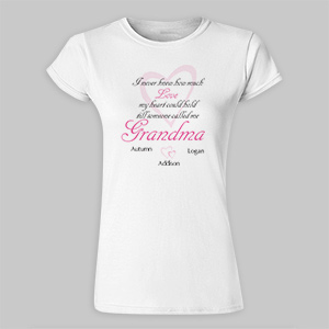 How Much Love Personalized Ladies' Fitted T-Shirt 912135X