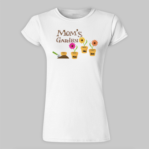Garden Personalized Scoop Neck T-Shirt