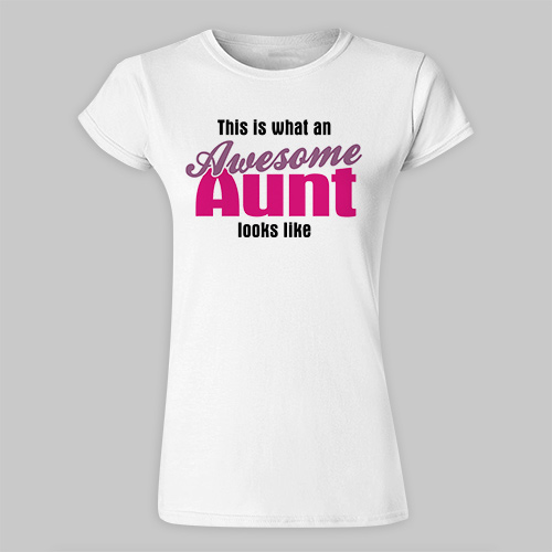 Personalized Awesome Aunt Ladies Fitted T-Shirt 912568X