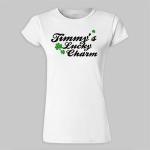 Lucky Charm Personalized Ladies Fitted T-Shirt 912649X