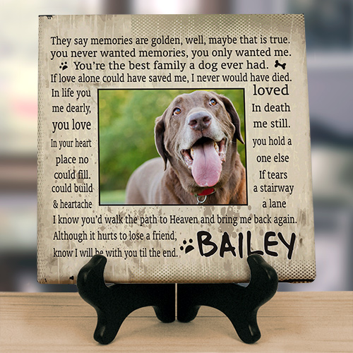 Til' the End Pet Memorial Wall Canvas
