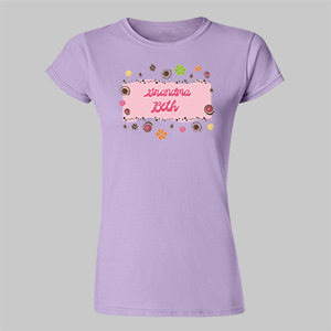 Personalized Floral Retro Custom Baby Tee B32868x