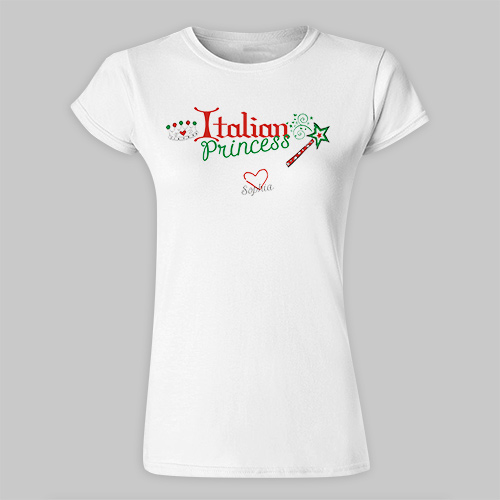 Italian Princess Presonalized Baby Tee B32878x