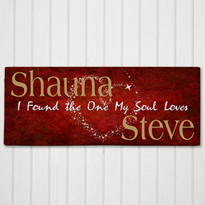 The One My Soul Loves Personalized Wall Canvas | Personalized Valentines Canvas Prints