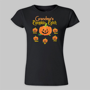 Personalized Pumpkin Patch Ladies Fitted T-Shirt 913643X