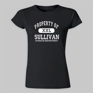 Personalized Property Of Athletic Dept. Ladies Fitted Tee 913852X