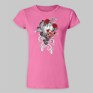 Personalized Always and Forever Ladies Fitted T-Shirt B33915X