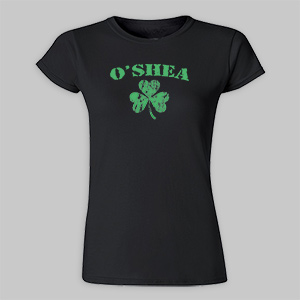 Personalized Irish Shamrock Ladies Fitted T-Shirt | St. Patrick's Day Shirts