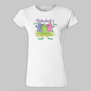 Garden Personalized Ladies Fitted T-Shirt 91535X