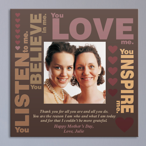Personalized Mother's Inspiration Photo Canvas 9158004