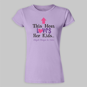 Personalized This Mom Loves Her Kids Fitted T-Shirt 915802X