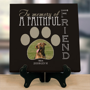 Personalized Faithful Friend Photo Memorial Canvas 9170384