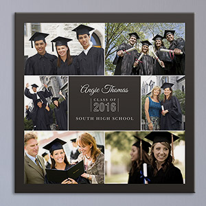 Class Of Photo Collage Canvas | Personalized Graduation Gifts