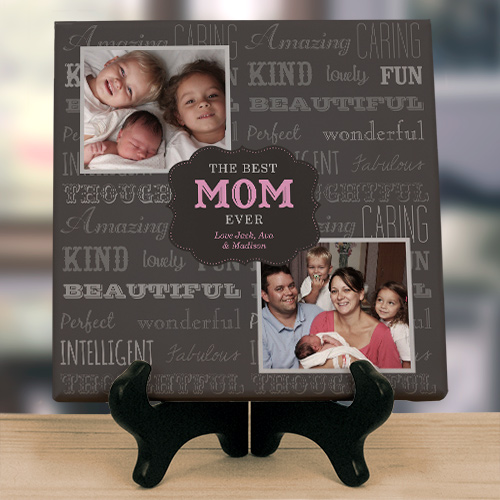 Personalized Best Mom Canvas | Mother's Day Personalized Gifts
