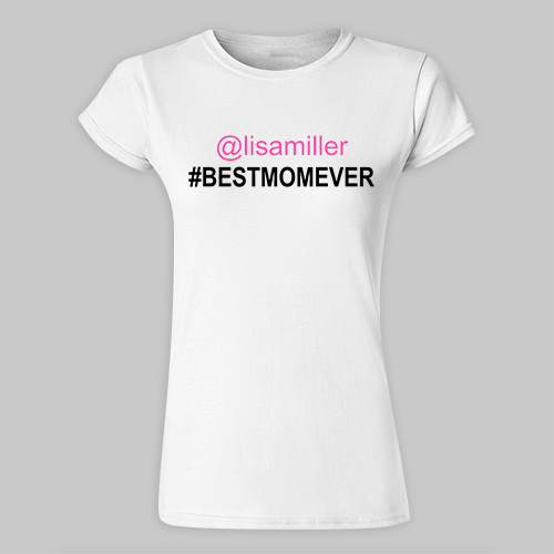Personalized Best Mom Ladies Fitted T-Shirt | Mommy Shirt