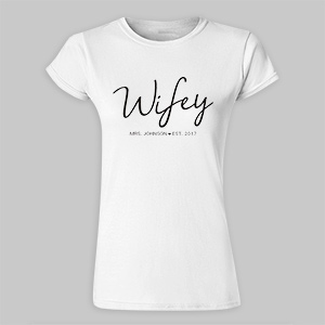 Personalized Wifey Womens T-Shirt 917627X