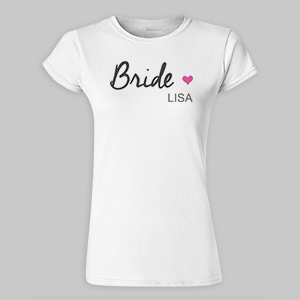 Personalized Bridal Party Ladies Fitted T-Shirt 917663X