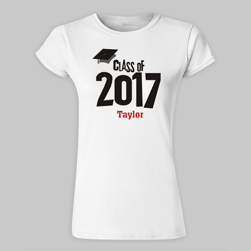 Personalized Graduation Cap Class Of Fitted T-Shirt 91779X