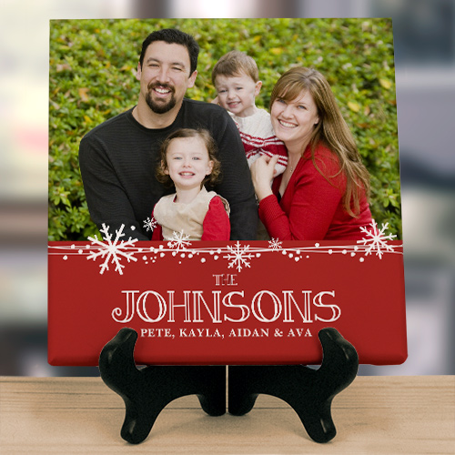 Christmas Photo Canvas | Personalized Christmas Sign