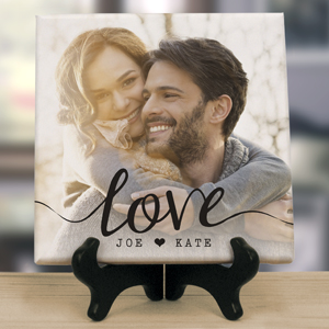 Personalized Love Photo Table Top Canvas