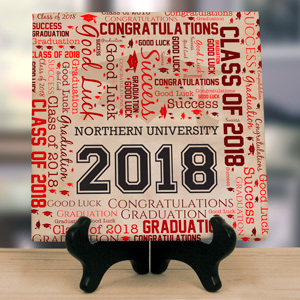 Graduation Word-Art Canvas | Graduate Gifts