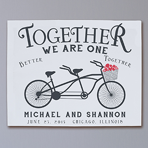 Personalized Together We Are One Wall Canvas | Romantic Home